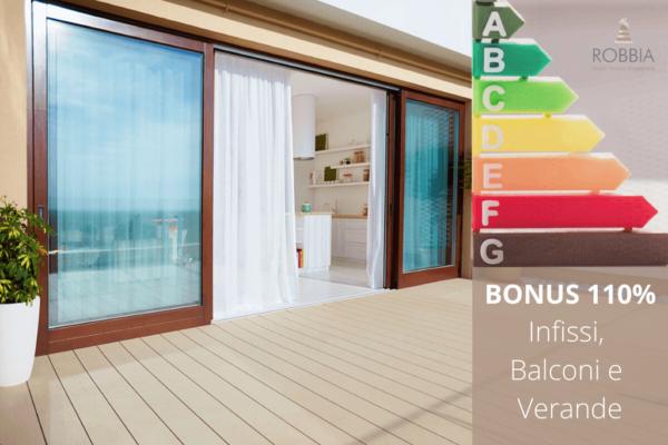 Bonus 110% per infissi, verande e balconi